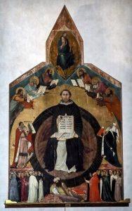 انتصار القديس توما الأكويني (١٣٢٣) بواسطة ليبو ميمي. ويكيبيديا عصر النهضة